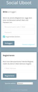 HumHub Social-Intranet Open-Source Login - Anmeldung und Registrierung