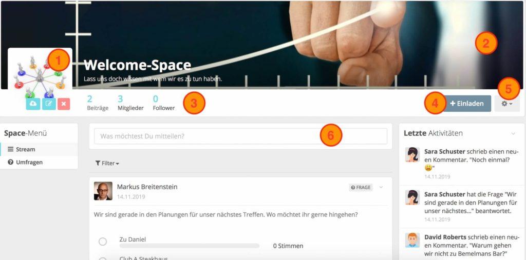 HumHub Spaces - Einstellungen und Konfiguration